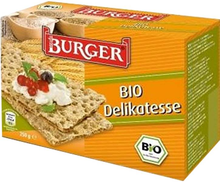 BIO Pieczywo chrupkie żytnie razowe 250g Burger