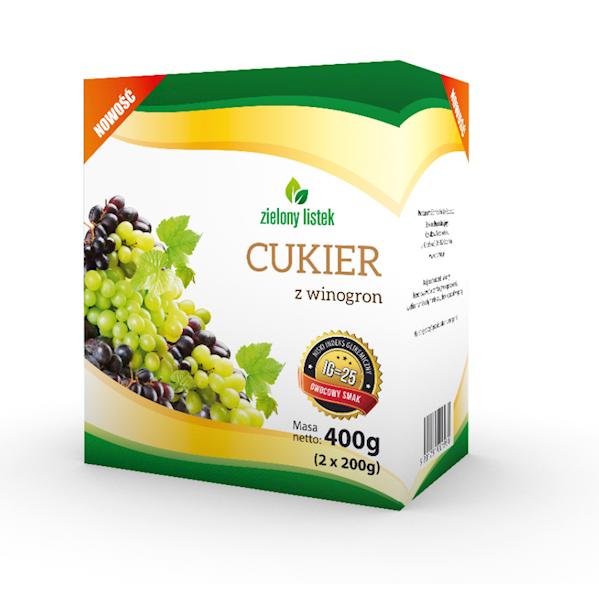Cukier z winogron 400g (2x200g) pudełko Domos