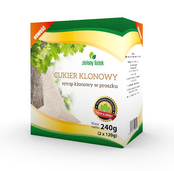 Cukier klonowy 240g (2x120g) pudełko Domos