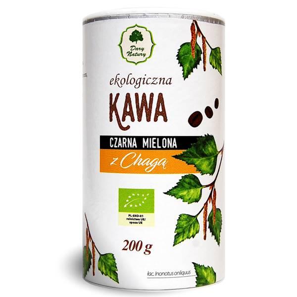 Bio kawa czarna mielona z Chagą 200g Dary Natury
