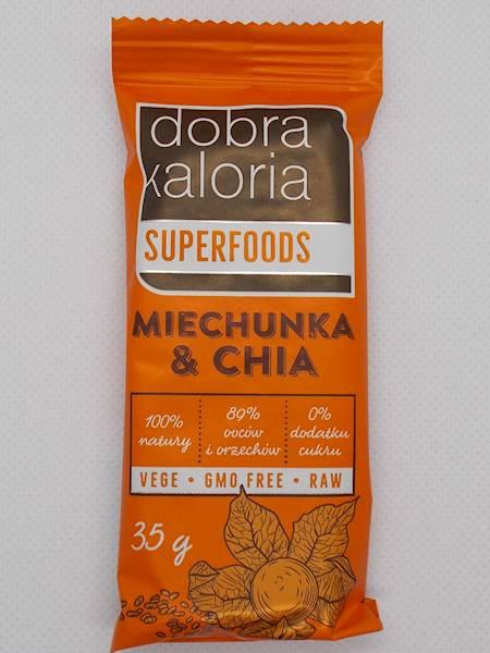 Baton owocowy miechunka & chia bez dodatku cukru 3