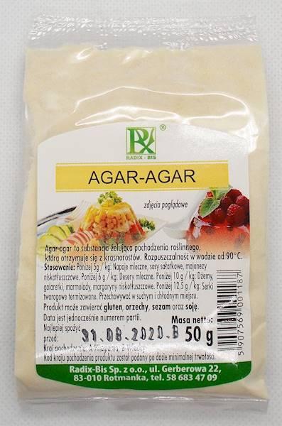 Agar - substancja żelująca z glonów morskich 50g R