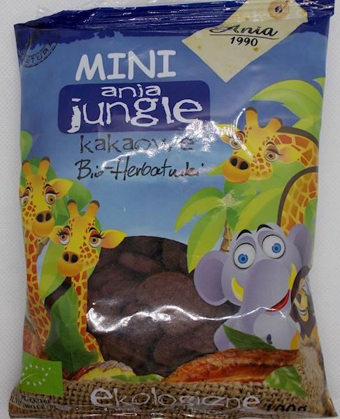 Bio herbatniki mini zoo kakaowe 100g Ania