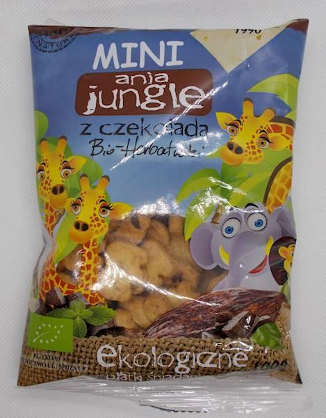 Bio herbatniki mini zoo z czekoladą 100g Ania