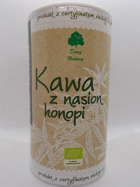 Bio kawa z nasion konopi 200g Dary Natury