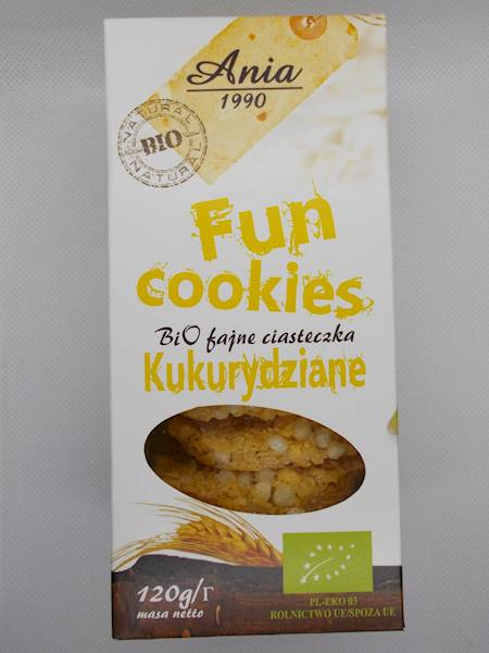 Bio fajne ciasteczka kukurydziane słodzone syropem