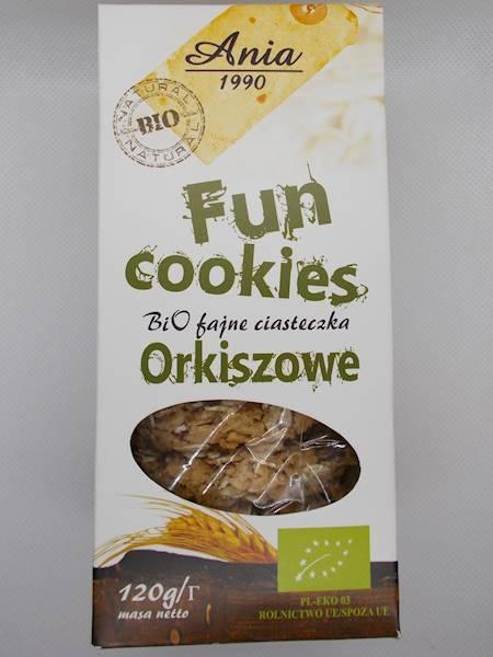 Bio fajne ciasteczka orkiszowe słodzone syropem r