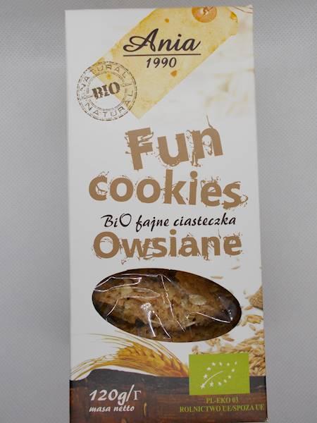 Bio fajne ciastka owsiane 120g Ania