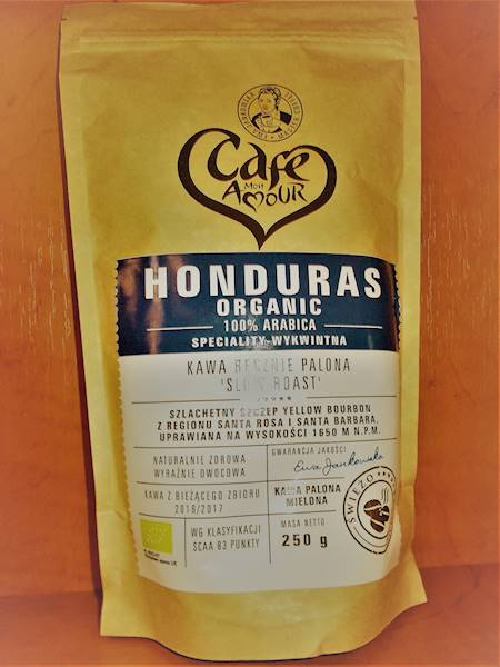 Bio kawa palona mielona arabica 100% Honduras 250g