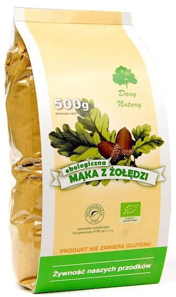 Bio mąka z żołędzi 500g Dary Natury