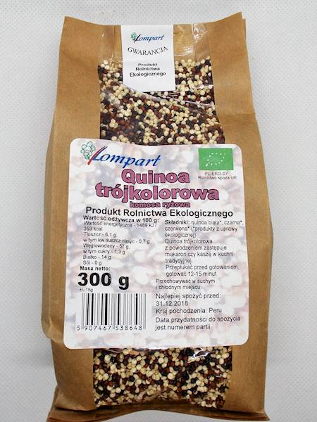 Bio quinoa trójkolorowa (komosa ryżowa) 300g Lompa