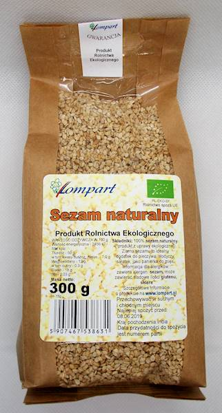Bio sezam naturalny 300g Lompart