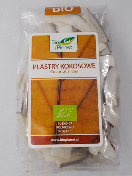 Bio plastry kokosowe 100g Bio Planet