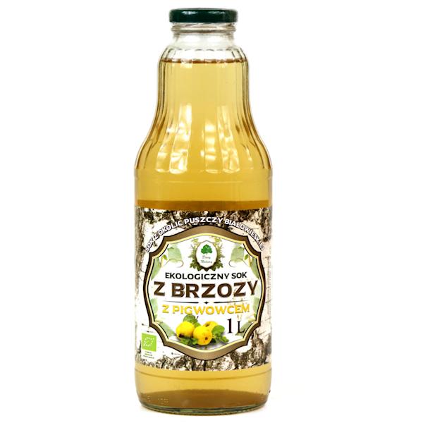 Bio sok brzozowy z pigwowcem 1l Dary Natury