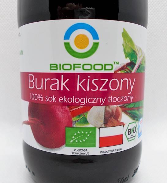 Bio sok organiczny z buraków kiszonych 0,3l Bio-F