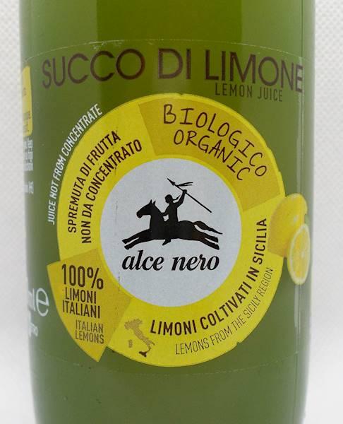 Bio sok z cytryn z Sycylii 0,25l Alce Nero