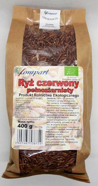 Bio ryż czerwony pełnoziarnisty 400g Lompart