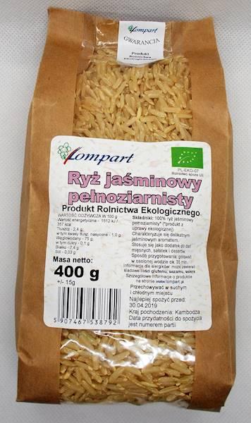 Bio ryż jaśminowy pełnoziarnisty 400g Lompart
