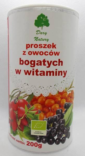 Bio proszek witaminowy (owoc róży, rokitnika, aron