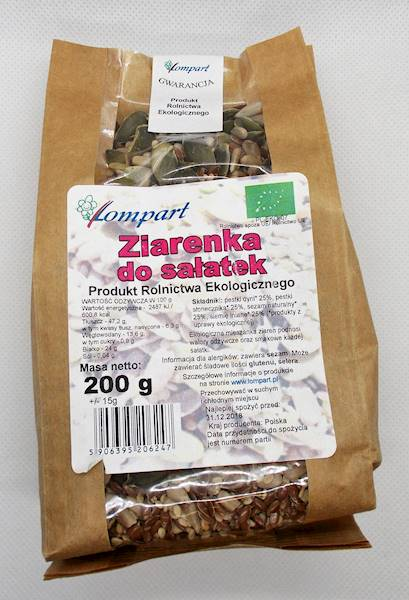 Bio ziarenka do sałatek 200g Lompart
