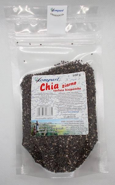 Chia ziarno (szałwia hiszpańska) 100g Lompart