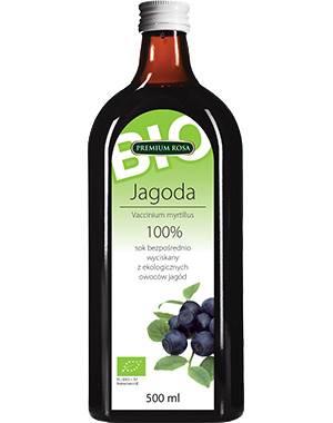 Bio sok z owoców jagód 100% 500ml bez cukru Premiu