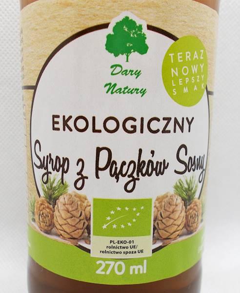 Bio syrop z pączków sosny 270 ml Dary Natury