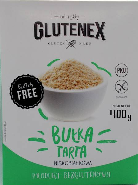Bułka tarta PKU 400g Glutenex