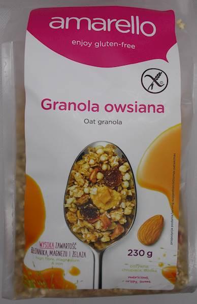 Granola owsiana bezglutenowa 230g Kubara
