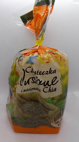 Ciasteczka owsiane z nasionami chia bez dodatku cu