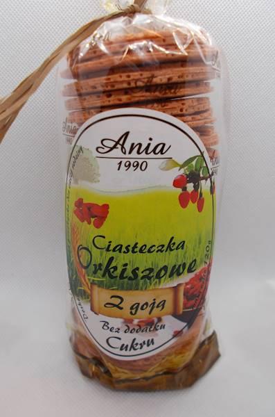 Ciastka orkiszowe z goją bez dodatku cukru 120g An