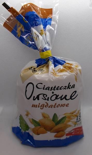 Ciasteczka owsiane migdałowe bez dodatku cukru 150