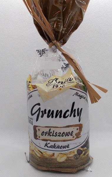 Ciastka crunchy czekoladowe orkiszowe słodzone syr
