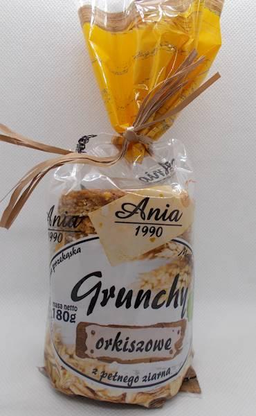 Ciastka crunchy orkiszowe naturalne w syropie ryżo