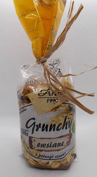Ciastka crunchy owsiane naturalne w syropie ryżowy