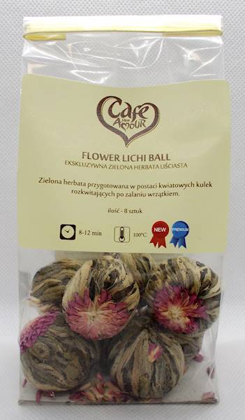 Herbata zielona flower lichi ball 50g Cafe