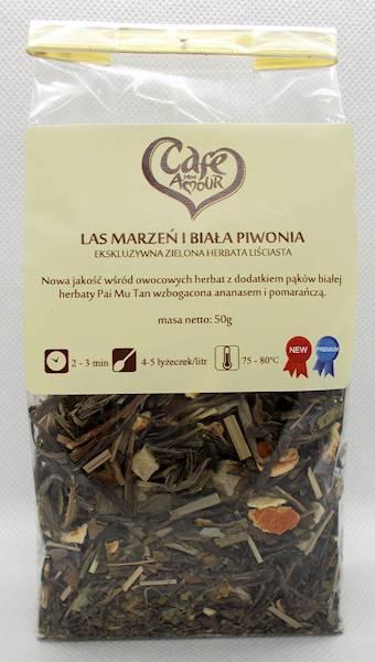 Herbata zielona las marzeń i biała piwonia 50g Caf