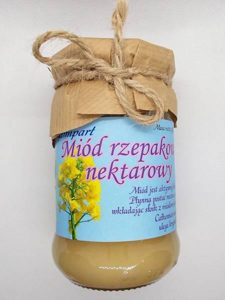Miód rzepakowy nektarowy 380 g
