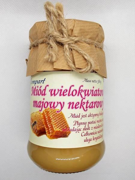 Miód wielokwiatowy majowy nektarowy 380g