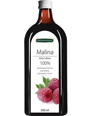 Malina bez cukru 0,5l Premium Rosa