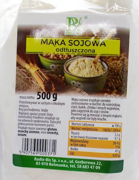 Mąka sojowa odtłuszczona 0,5 kg Radix-Bis
