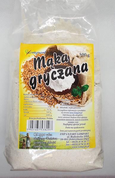 Mąka gryczana 500g Lompart