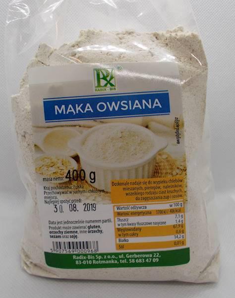 Mąka owsiana 400g Radix-Bis