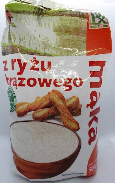 Mąka z ryżu brązowego 500g Radix-Bis
