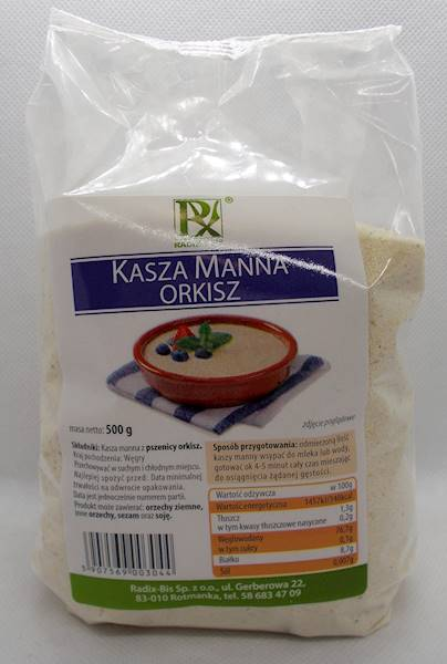 Kaszka manna orkisz 0,5 kg Radix-Bis