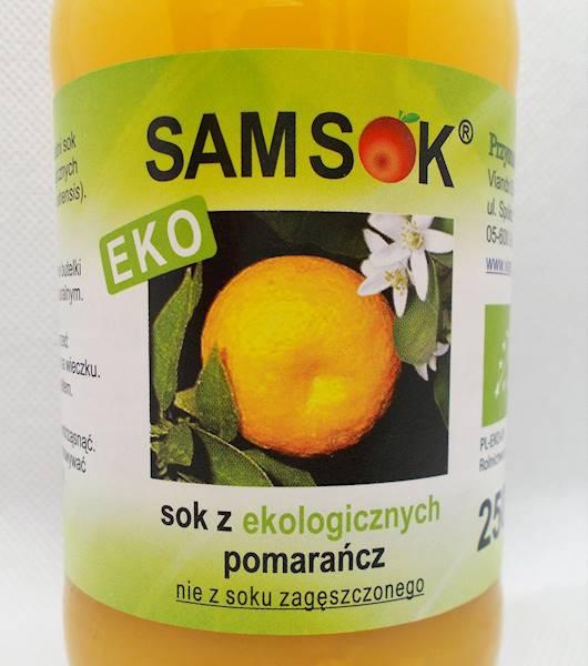 Sam sok z pomarańcz b/c bio 0,25l Viands