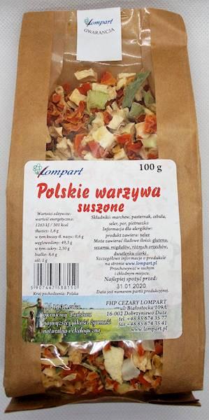 Polskie warzywa suszone 100g Lompart
