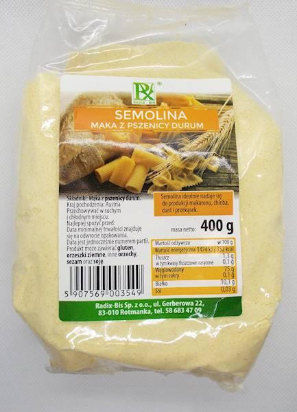 Semolina mąka z pszenicy durum 400g Radix-Bis