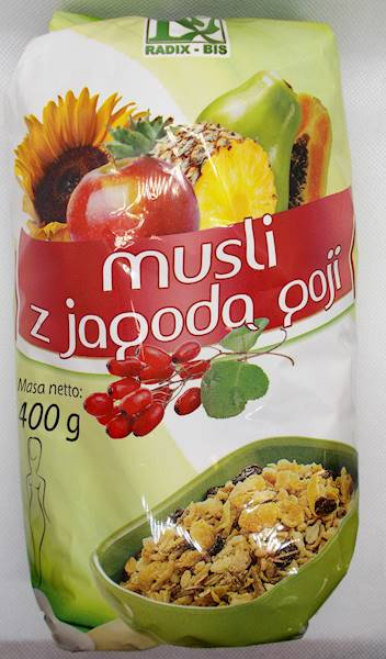 Musli z jagodą goji 400g Radix-Bis