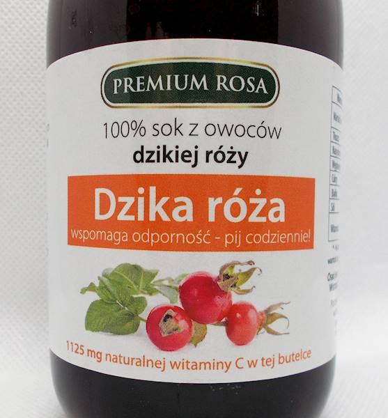 Sok z owoców dzikiej róży - witamina c nat. niesło